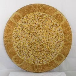 "30x30"" bead weaving on canvas"